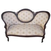 Antique Victorian Settee Sofa Couch Loveseat Antique Furniture