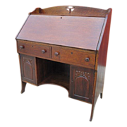 Antique Victorian Oak Secretary's Desk Antique Furniture