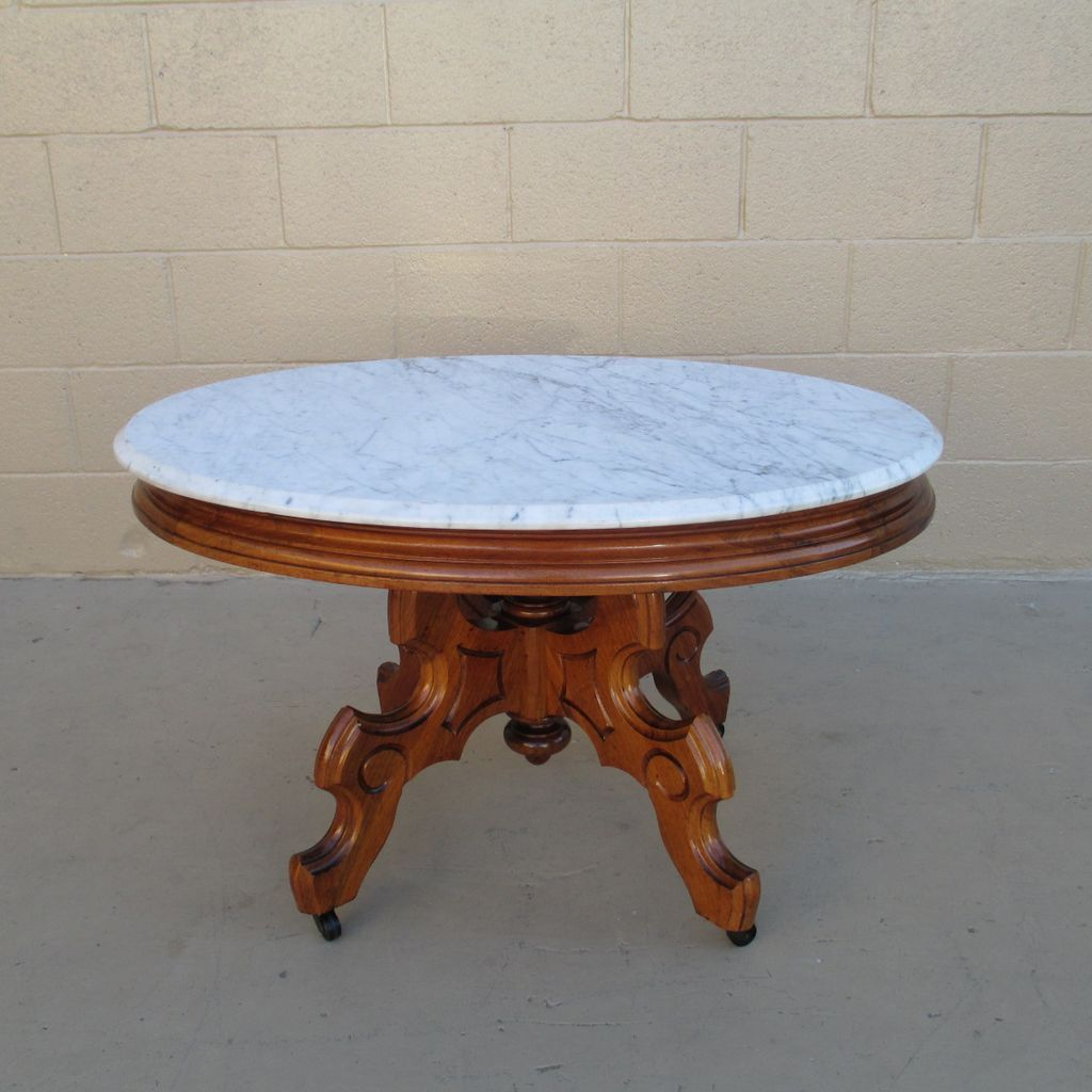 Victorian marble top table jpg - French Antique Marble Top Coffee Table