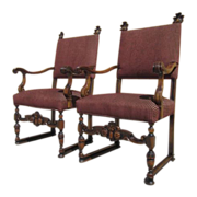 Antique Arm Chairs Pair of Armchairs Antique Furniture!