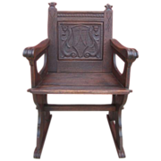 French Antique Gothic Chair Armchair Antique Furniture!