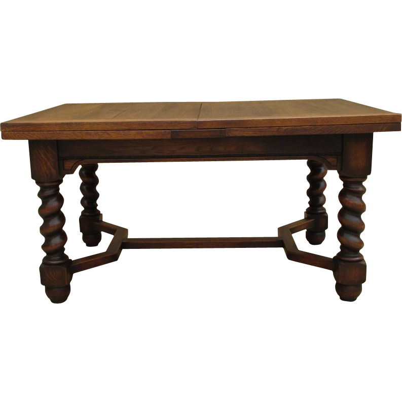 French Antique Oak Barley Twist Dining Table Antique  : VR 0801L from www.rubylane.com size 793 x 793 png 184kB