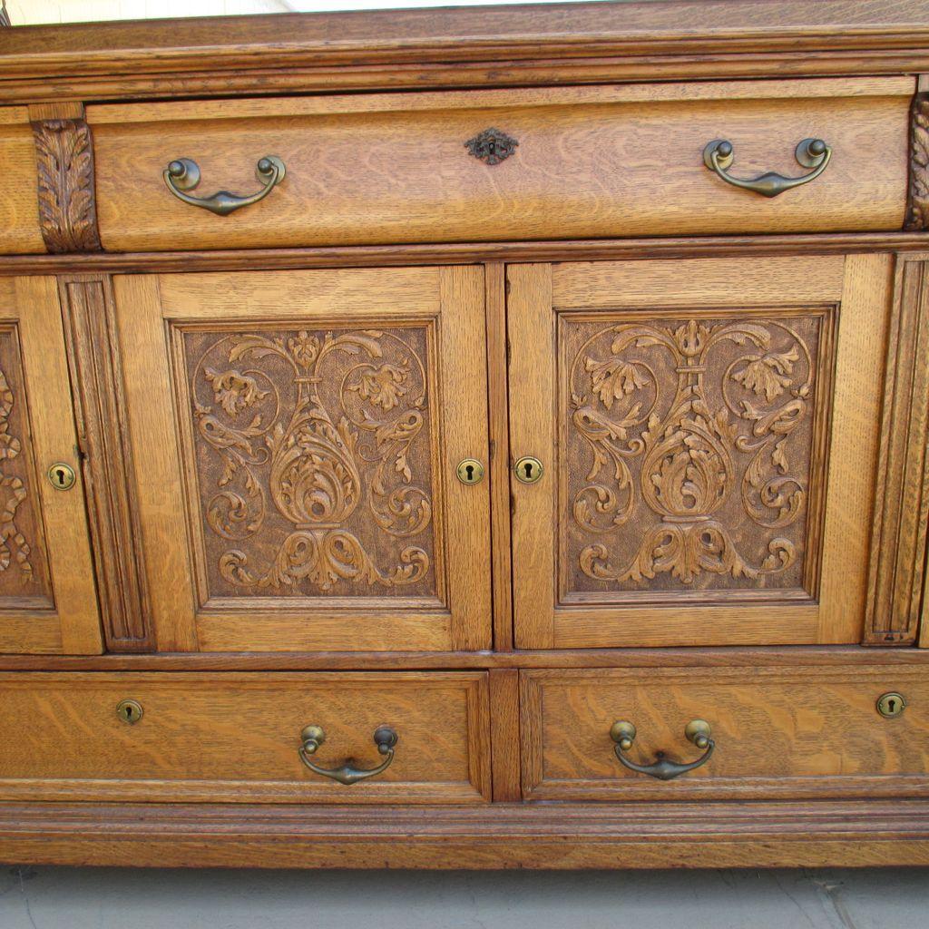 Brise Vue Bois: Antique Oak Sideboards and Buffets Furniture