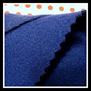 Authentic vintage WOOL Felt - Lapis Blue - 6.5 x 18 inches