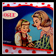 SOLD Vintage Vogue mother / daughter Needle Book - sewing notion