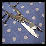 SOLD Rare Singer Sewing Machine Company Buttonhole Scissors - shiny & sharp