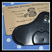 Vintage Singer Feed Cover plate 121309 for Featherweight 221 machine embroidery