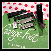 Singer Featherweight Gauge Presser Foot sewing machine attachment set