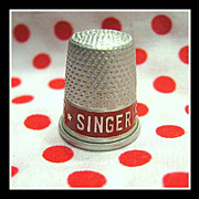 Vintage Singer Sewing Machine Company metal Thimble