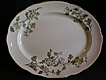 T Furnival & Sons Polychrome Transferware &quot;Hawthorn&quot; Platter