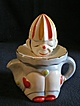 Japanese &quot;Figural Clown&quot; 2-Piece Fruit Juice Reamer