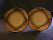 Vernon Kilns &quot;Tam O'Shanter&quot; Pattern (2) Round Open Vegetable Bowls
