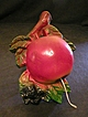 Chalkware String Holder in shape of Apple and Berries
