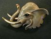 Coro Vendome Gold-Tone & Enamel Figural Elephant Brooch