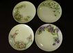 "Set of 4 - Hand Painted Floral Selb Bavaria 6"" Plates"
