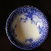 "Wheeling Pottery Flow Blue ""LaBelle"" Cereal/Soup Bowl"