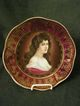 Bavarian &quot;Amorosa&quot; Hand-Decorated Portrait Plate of a Beautiful Lady