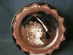 French Limoges Hand-Painted Portrait Plate of Elegant Victorian Lady