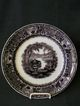 Podmore Walker & Co Black Transfer &quot;Washington Vase&quot; Plate