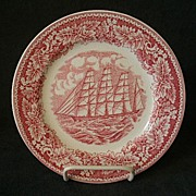 "Set of 4 Homer Laughlin ""Americana Series - Clipper Ship, Great Republic"" Salad/Dess"