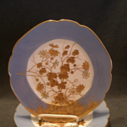 Set of 4 Jean Pouyat (JPL) Limoges Hand Painted Salad/Dessert Plates w/Encrusted Gold Floral D