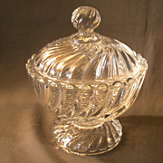 "Baccarat ""Swirl"" Glass Covered Candy/BonBon Dish"