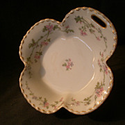 Haviland & Co. Limoges &quot;Pink Floral&quot; Relish Server