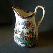 "Ashworth Bros. ""Coloured Willow"" (Chusan) Pattern Pitcher"