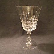 "Set of 6 - Cristal d'Arques/Durand  ""Tuilleries/Villandry"" Pattern Crystal Water Gob"
