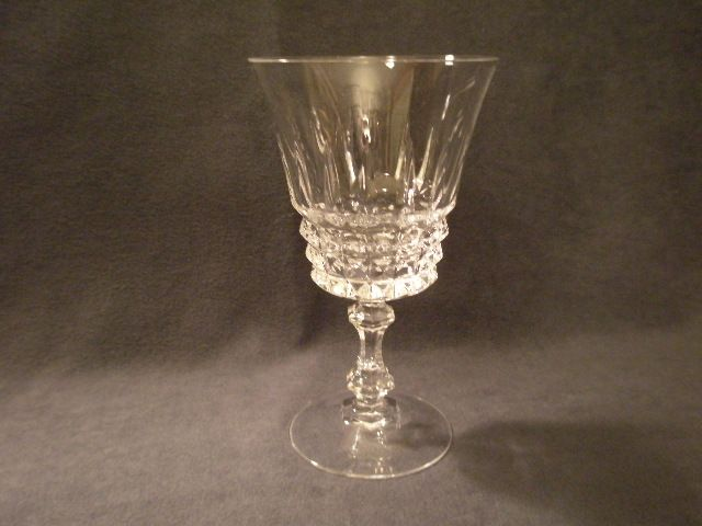 "Set of 6 - Cristal d'Arques/Durand  ""Tuilleries/Villandry"" Pattern Crystal Water Goblets"