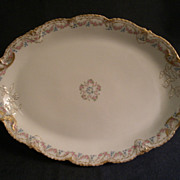 Theodore Haviland Floral Motif Oval Serving Platter, Schleiger #140-2, Blank 301