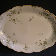 Theodore Haviland Floral Motif Medium Oval Serving Platter, Schleiger #150-24, Blank 130