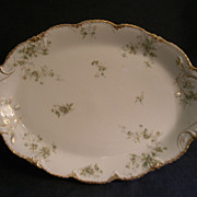 Theodore Haviland Floral Motif Large Oval Serving Platter, Schleiger #150-24, Blank 130