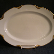 Charles Haviland & Co. Limoges &quot;Silver Anniversary&quot; Small Oval Serving Platter- Schl