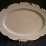"Charles Haviland & Co. Limoges ""Silver Anniversary"" Medium Oval Serving Platter- Sch"