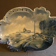 Rosenthal Hand-Painted Blue Delft Savoy Bowl w/Dutch Canal Scene