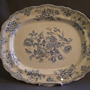 "Pitcairns Limited ""Asiatic Pheasants"" Blue Transfer-ware Platter"
