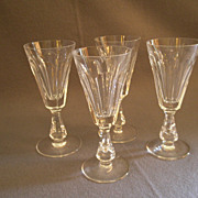 "Set of 4 Waterford Crystal ""Glencree"" Pattern Sherry Stems"