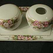 Nippon 3-Piece Vanity Set with Apple Blossom Motif