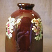 "Peters & Reed ""Sprigged"" Decorated Octagon Vase"