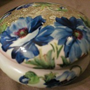 Hand Painted Porcelain Covered Dresser Jar