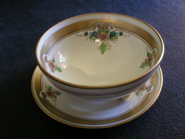 Pickard China - Footed Bowl with Under-Plate