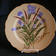 Haviland China Plate - H.P. Floral - Artist Signed