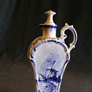 "German Rauenstein ""Delft"" Decorated Cruet"
