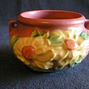 Roseville Pottery - Peony Bowl with Handles
