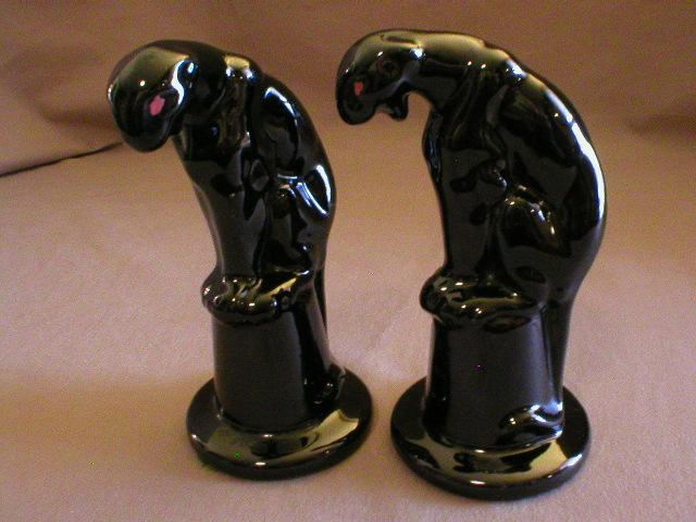 Pair of Royal Haeger &quot;Panther on Pedestal&quot; Figurals