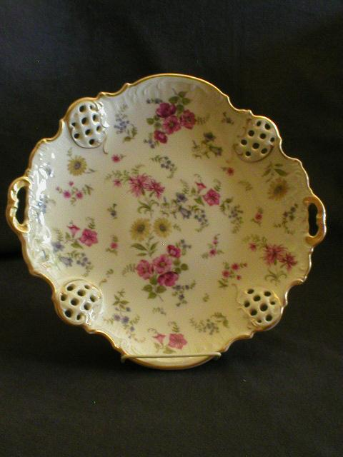Rosenthal &quot;Florida&quot; Pattern Round Pierced Cake Plate