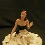 Royal Dux Figurine of Lady in Long Flowing Gown