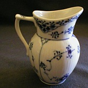 "Royal Copenhagen ""Blue Fluted-Half Lace"" Pattern Creamer"