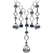 Tourmalinated Quartz and London Blue Topaz Necklace Sterling Silver